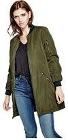 G by Guess GByGUESS Women's Kreso Longline Bomber Jacket