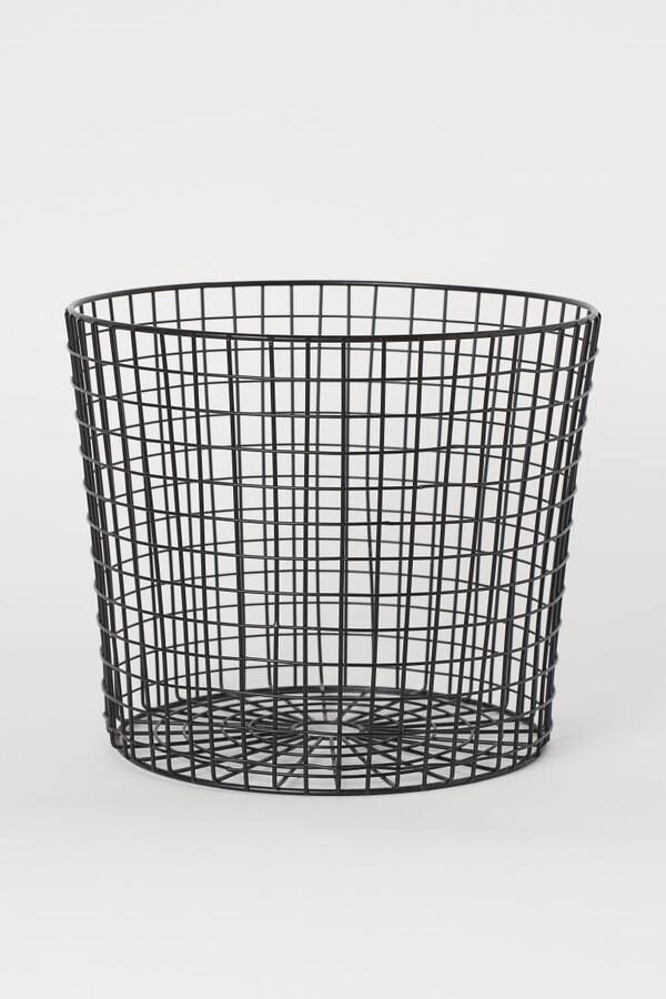 H&M - Metal Storage Basket - Black