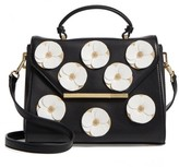 Ted Baker Daisii Applique Faux Leather Top Handle Satchel - Black