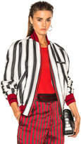 Haider Ackermann Striped Bomber Jacket