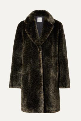 FAZ NOT FUR Snow Leo Faux Fur Coat - Dark green