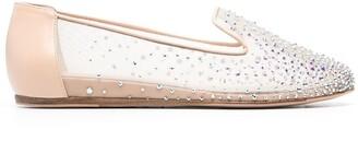 Le Silla Nicole crystal-embellished slippers