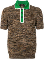 No.21 contrast collar T-shirt