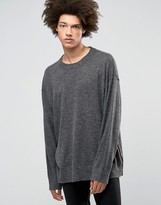 Weekday Hero Loose Sweater Knit Raw Seams