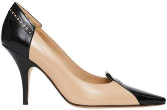 Burberry Brogue Detail Two-tone Leather Pumps