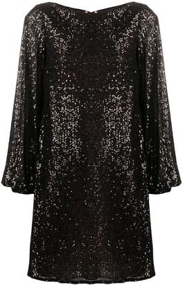 Talbot Runhof Matrix micro-sequin dress