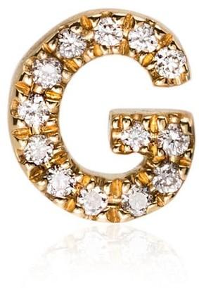 Loquet 18k yellow gold G diamond letter charm