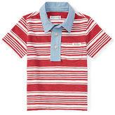 Ralph Lauren Chambray-Collar Cotton Polo