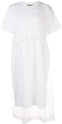 Simone Rocha tulle-panel T-shirt dress
