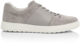 Salvatore Ferragamo Sullivan Suede Sneakers
