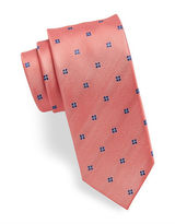 HUGO Micro Dot and Floral Silk Tie