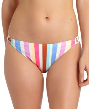 California Waves Juniors' Striped Ring Hipster Bikini Bottoms, Created For Macy's Women's Swimsuit