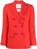 Giada Benincasa embroidered double breasted blazer