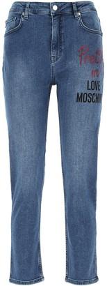 Love Moschino Cropped Boyfriend Jeans