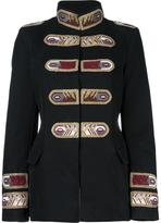 Ermanno Scervino stripes patch military jacket