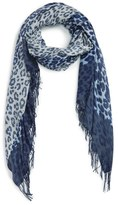 Nordstrom Animal Print Wool & Cashmere Wrap