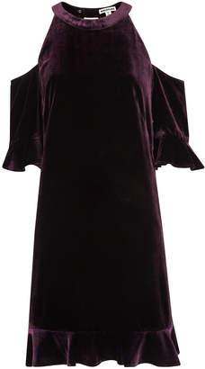Whistles Velvet Cold Shoulder Dress