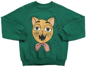Mini Rodini Cat Print Organic Cotton Sweatshirt