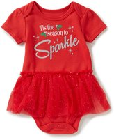 Baby Starters Baby Girls 3-12 Months Christmas Sparkle Ruffle Bodysuit