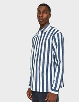 Sunnei Classic Shirt with Pocket in White/Blue