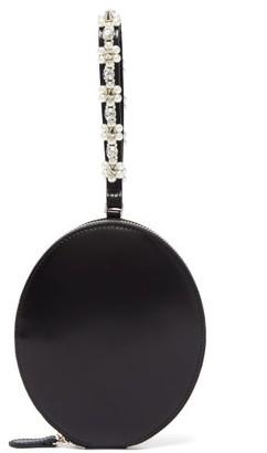 Simone Rocha Faux-pearl-embellished Leather Wristlet Clutch - Black