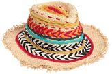 Etro Fringed Embroidered Straw Hat