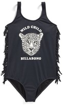 Billabong Girl's Wild Roar One-Piece Swimsuit