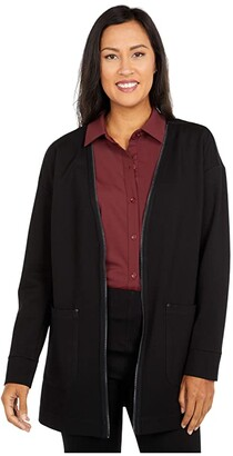 Lysse Nilsen Jacket with Functional Back Zipper (Black) Women's Clothing