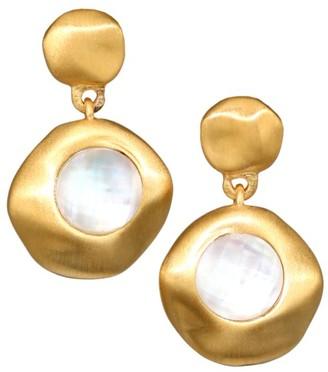 Dean Davidson 22K Goldplated & Mother-Of-Pearl Doublet Mini Drop Earrings