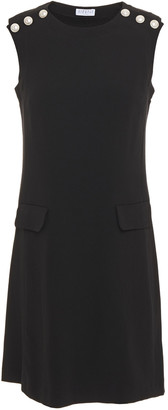 Claudie Pierlot Button-embellished Crepe Mini Dress