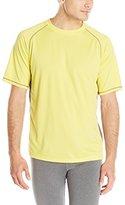Stanley Tools Men's Workwear and Training Performance Crew Birdseye Texture Raglan Sleeve Shirt