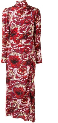A.L.C. Floral Print Silk-Blend Maxi Dress