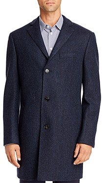 Cardinal of Canada Herringbone Regular Fit Topcoat