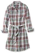 L.L. Bean Button-Front Plaid Shirtdress