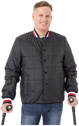 Tommy Hilfiger Adaptive Modular Baseball Jacket (Jet Black) Men's Clothing