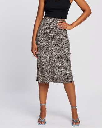 All About Eve Women's Black Midi Skirts - Bronte Midi Skirt - Size One Size, 10 at The Iconic