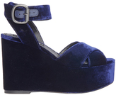 Alice + Olivia Violet Velvet Wedge