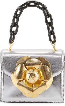 Oscar de la Renta R Mini Tro Metallic Chain-Handle Shoulder Bag