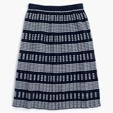 J.Crew Pleated sweater-skirt in stripe