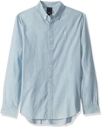 G Star Men's Chambray Core Long Sleeve Button Down Shirt