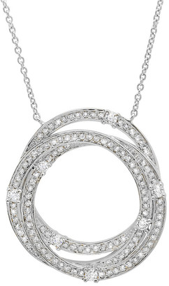 Crislu Platinum-Plated Silver Cz Necklace