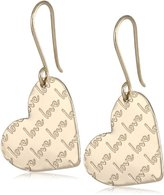 Mercedes Salazar Magical Words Gold-Plated Heart Earrings