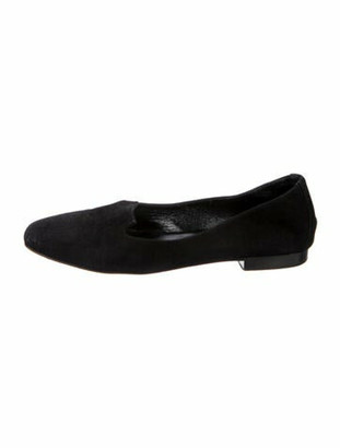 Hermes Holly Suede Flats Black
