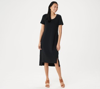 Halston H by Petite Essentials Scoop-Neck Midi Dress