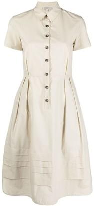 Antonelli Pleated-Waist Shirt Dress