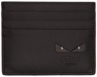 Fendi Black and Silver Bag Bugs Card Holder