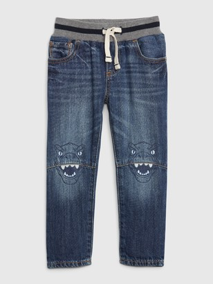 Gap Toddler Pull-On Graphic Slim Jeans