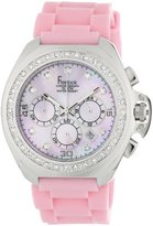 Freelook Women's HA6303-5PX Aquamarina III Pink Silicone Mother-Of-Pearl Dial Watch
