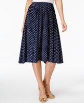 Charter Club Petite Dot-Print A-Line Skirt, Created for Macy's
