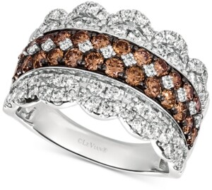 LeVian Le Vian Diamond Crown Ring (2 ct. t.w.) in 14k White Gold